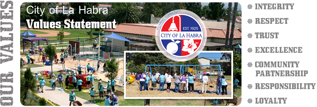 City of La Habra Values Statement