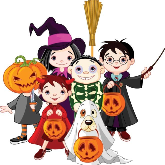 costumed kids